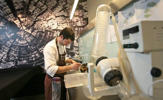 El laboratorio es una pieza clave del Mugaritz./Lobo Altuna