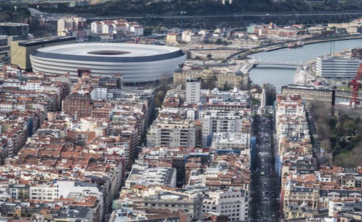 Un espectactular viaje por Bilbao desde el aire