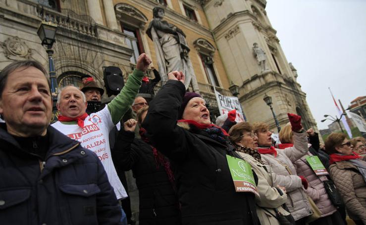 La marcha de los pensionistas en imágenes