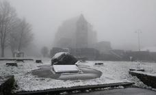 Primeros copos de nieve en las cumbres de Bizkaia