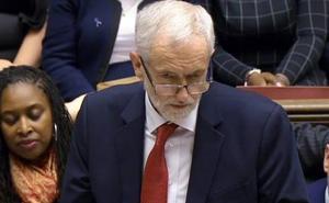 Corbyn presenta una moción de censura contra el Gobierno de May