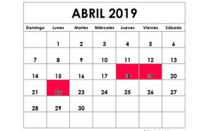 Cuándo cae Semana Santa 2019: fechas del macropuente