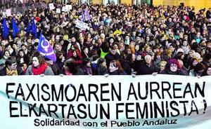 Bilbao se suma a la «solidaridad con todas las mujeres andaluzas»