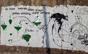 Los denunciados por pintar murales en Sopela piden el archivo de la causa