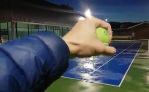 Las pistas de tenis de Durango hacen aguas