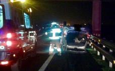 Un herido al volcar su coche en la A-1 a su paso por Elburgo