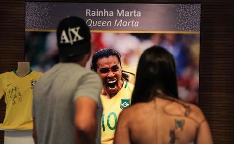 Marta, la primera mujer con un lugar en el museo de Maracaná