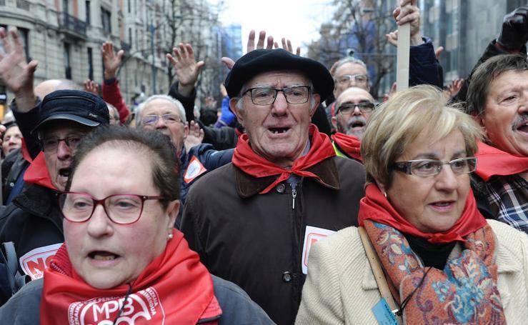 La manifestación de los pensionistas en imágenes
