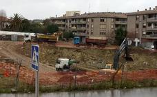 2.000 camiones cruzarán Urduliz para sacar la tierra del futuro aparcamiento subterráneo del hospital