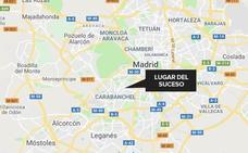 Herido muy grave tras ser apuñalado por su mujer en Madrid
