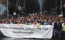 4.000 personas exigen en Bilbao que no se utilice a los alumnos en el conflicto de la enseñanza concertada