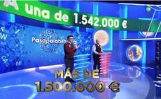 ¿Quién ganará hoy el bote de 'Pasapalabra' con 1,5 millones de euros?