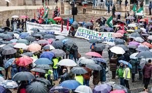 Más de 2.000 personas se manifiestan en Vitoria en el quinto día de paro de la concertada