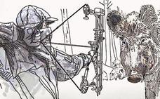 Flechas nocturnas en Vitoria contra el jabalí
