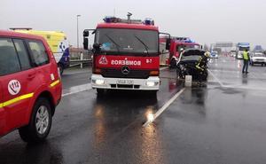 Cinco kilómetros de retenciones en la A-1 en dirección Madrid tras un choque a la altura de Iruña de Oca