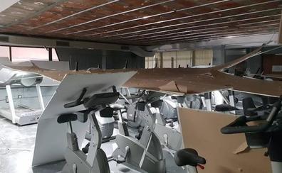 Bildu exige responsabilidades por el derrumbe del falso techo en el gimnasio de Sakoneta