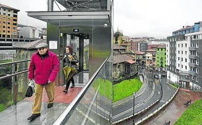 Bilbao en un botón de ascensor