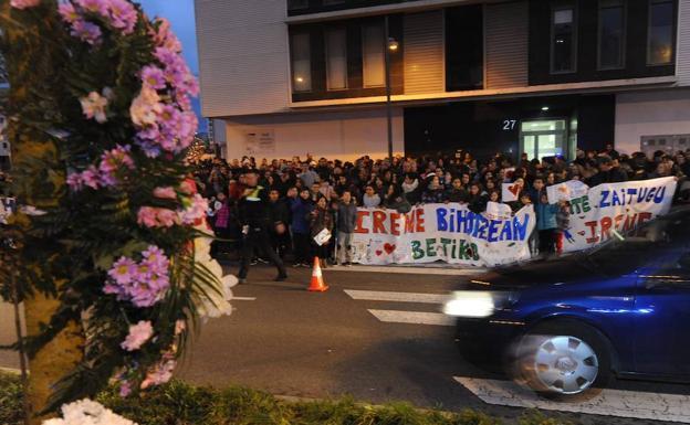 Da positivo en alcohol tras asistir al acto de protesta por la muerte de Irene en Zabalgana
