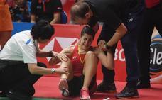Carolina Marín sufre la rotura del ligamento cruzado anterior de su rodilla derecha