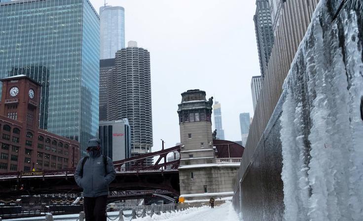 A 30 grados bajo cero en el medio este de Estados Unidos