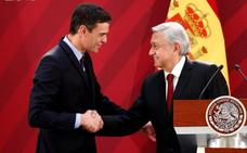 Sánchez tranquiliza a los empresarios españoles en México respecto a las intenciones de López Obrador
