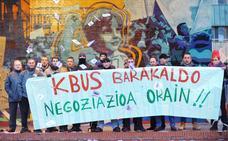 La plantilla del Kbus intensifica la huelga en Barakaldo con paros de 24 horas los jueves de febrero