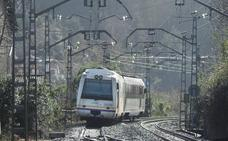 Un tren desalojado por la caída de un árbol sobre la catenaria en Alonsotegi