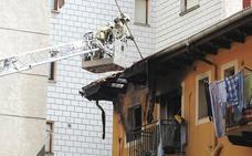 Un afectado por inhalación de humo en el incendio de una vivienda en Santurtzi