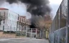 Un chaval herido en un incendio en el Centro de Iniciación Profesional de Bermeo