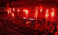 Maroon 5 desató una lluvia de fuego y cohetes en el descanso de la Super Bowl