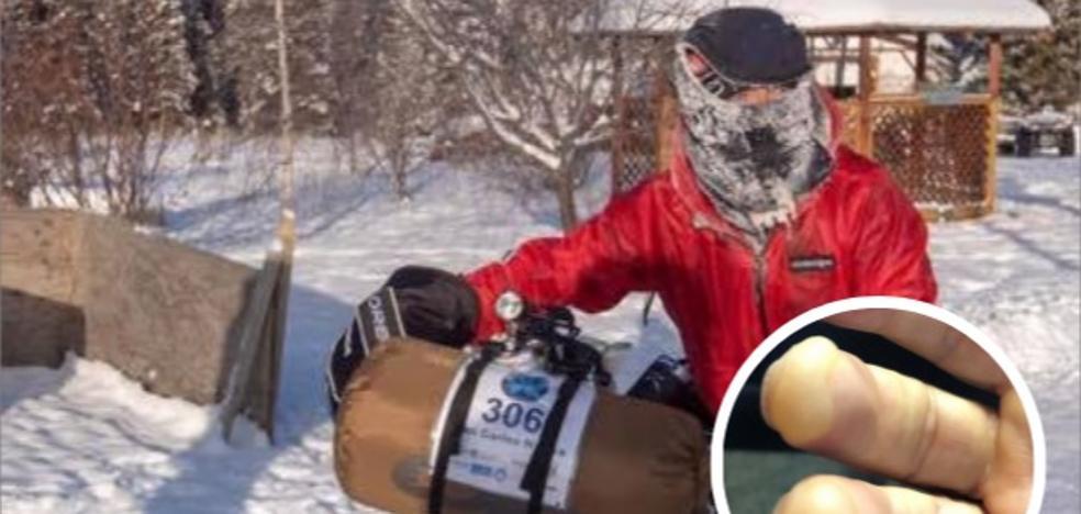 Nájera abandona la Yukon Arctic Ultra por congelación: «Las cosas no iban bien. Me dolían los dedos»
