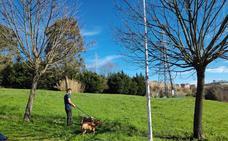 El primer parque para perros de Ortuella, a prueba