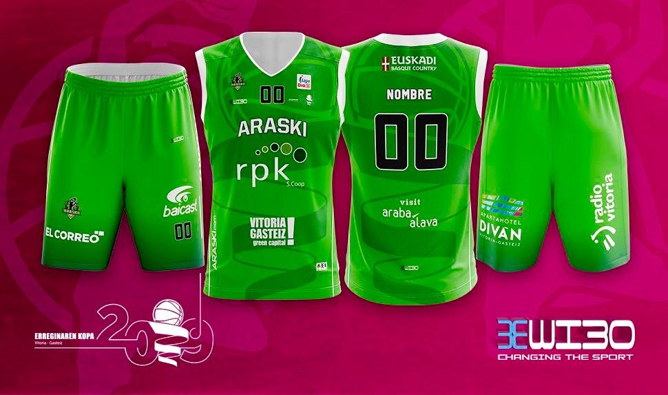 El Araski conserva el verde y el fucsia en las equipaciones para la Copa
