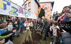 La ikastola Azkue cuidará del segundo retoño del Árbol de Gernika en Lekeitio
