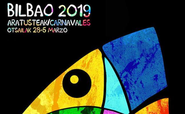 'Sardinita Disfrazada', elegida la reina del cartel de los carnavales de Bilbao