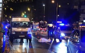 Muere un peatón arrollado por una conductora que se dio a la fuga en Bilbao