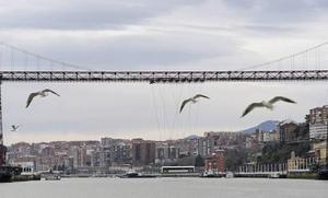 Bizkaia Zubiaren 125. urteurrenari amaiera emateko ekitaldia egin zuten atzo Portugaleten