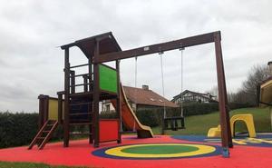 Cuatro parques infantiles de Berriz ganan en seguridad y en modernidad