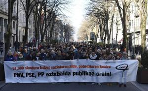Mil personas marchan en Bilbao contra PNV, PSE y PP