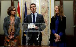 Casado se viste ya de candidato a la Moncloa y ofrece a Cs y Vox aunar fuerzas