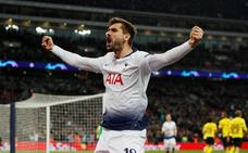 Llorente marca en la goleada del Tottenham sobre el Borussia Dortmund