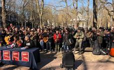 Músicos se manifiestan en Vitoria contra la restricción de conciertos en los bares