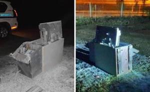Arrancan un cajero automático del hospital de Zumarraga y lo abandonan en una pista forestal