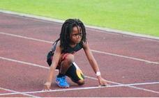 Rudolph, el niño de 7 años que corre como Usain Bolt