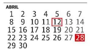 Las fechas clave del calendario electoral