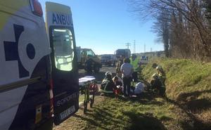 Un ciclista resulta herido al ser golpeado por un camión en Asparrena
