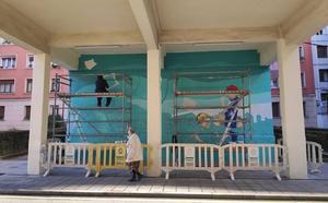 Santurtzi lucirá un nuevo mural en homenaje a las mujeres