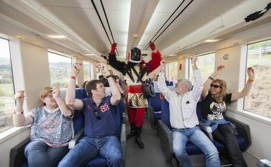 En tren a las bodegas de La Rioja