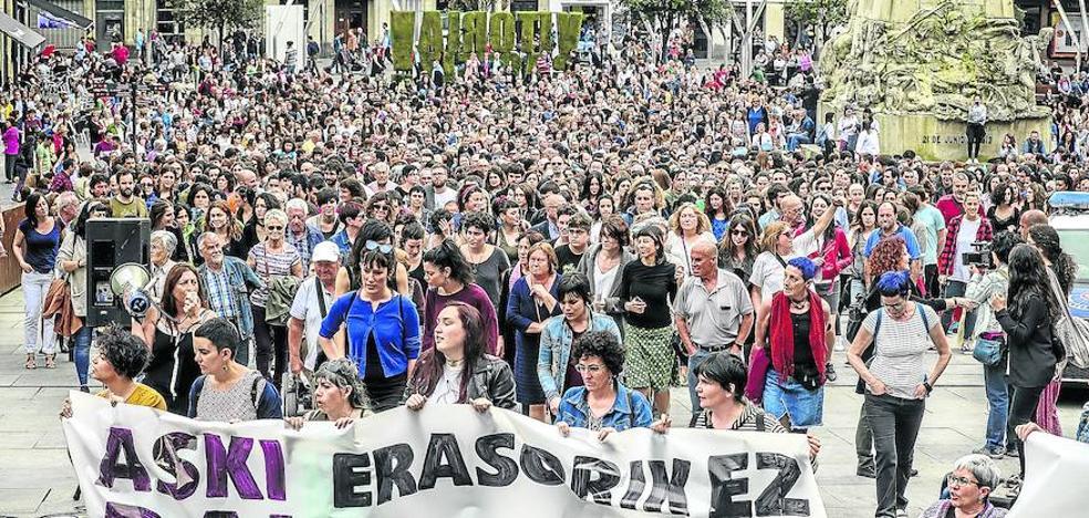 Vitoria alerta sobre una escalada de violencia machista, con más de 600 víctimas en 2018