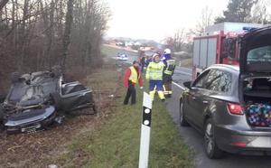 El conductor que volcó en Amurrio duplicó la tasa de alcohol y carecía de carnet de conducir